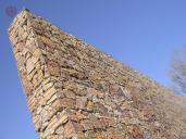 Realizace opěrné zdi ze svařovaných gabionů, Maccaferri.