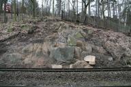 Očištěný skalní výchoz.