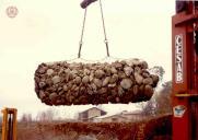 Manipulace s naplněným pytlovým gabionem, Maccaferri.