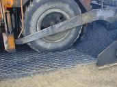 Detail instalace materiálu Road mesh.