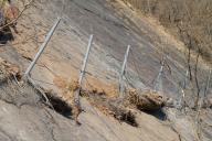 Stav pevnostního plotu po zachycení řízeného řícení.