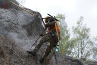 Vrtání pomocí pneumatického kladiva VK15.