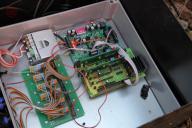 Pohled na elektroniku měřící ústředny.